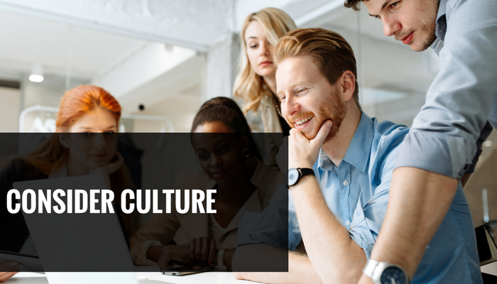 Consider Culture when you have high staff turnover to combat staff retention